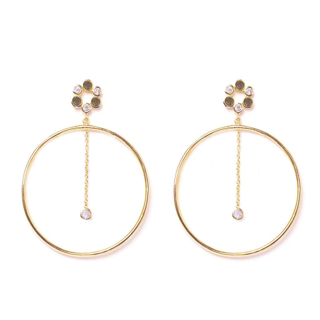 Eve Gold Earrings - Emma & Chloe