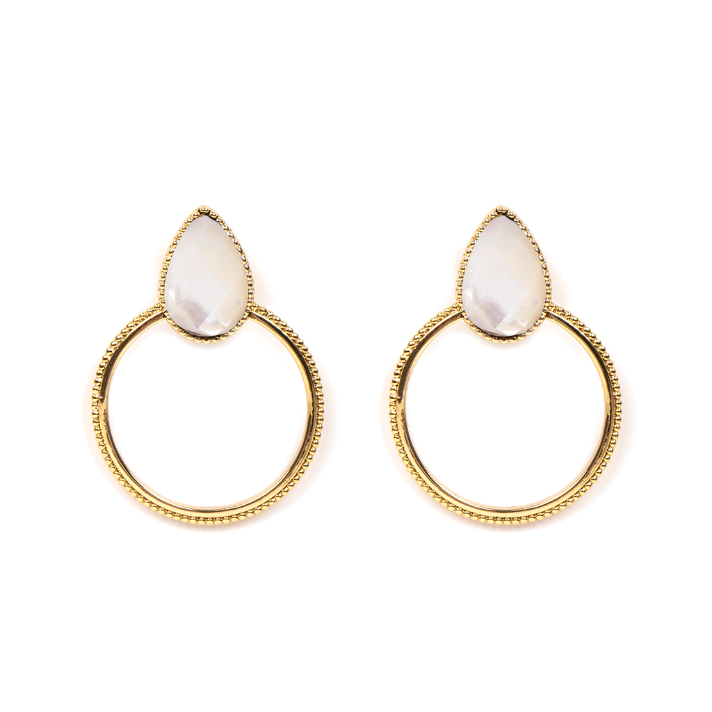 Halima Gold Earrings - Emma & Chloe