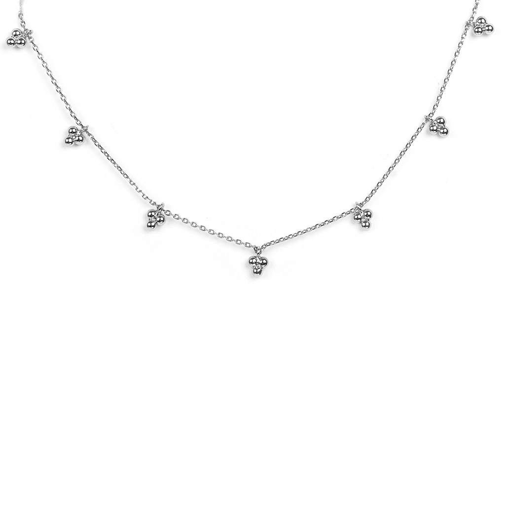 Happy Silver Choker Necklace - Emma & Chloe