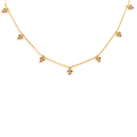 Happy Gold Choker Necklace - Emma & Chloe