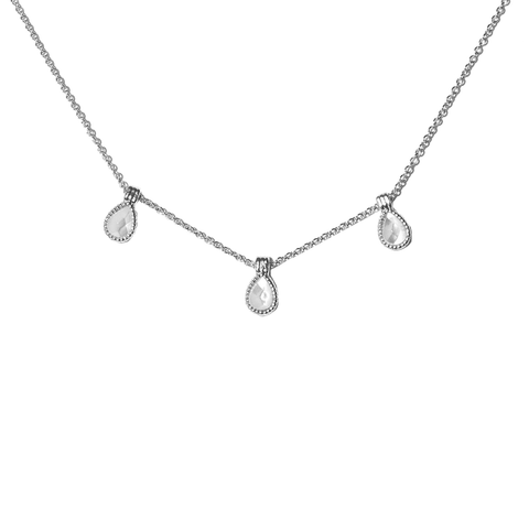 Hasna Silver Necklace - Emma & Chloe