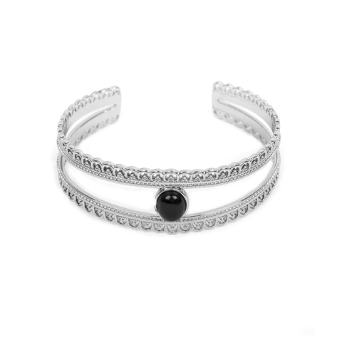 Hattie Silver Bangle - Emma & Chloe