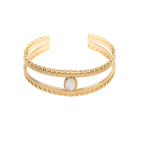 Hattie Gold Bangle - Emma & Chloe