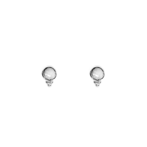 Heather Silver Studs - Emma & Chloe