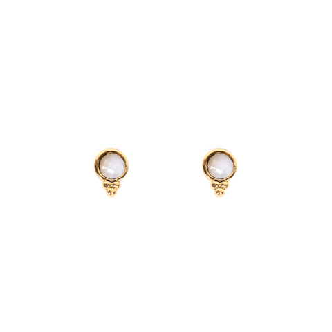 Heather Gold Studs