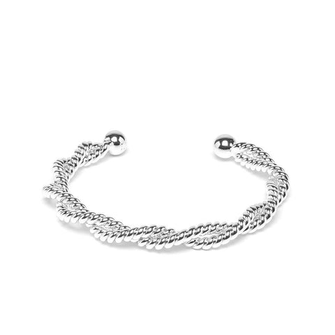 Amance Bangle Silver - Emma & Chloe