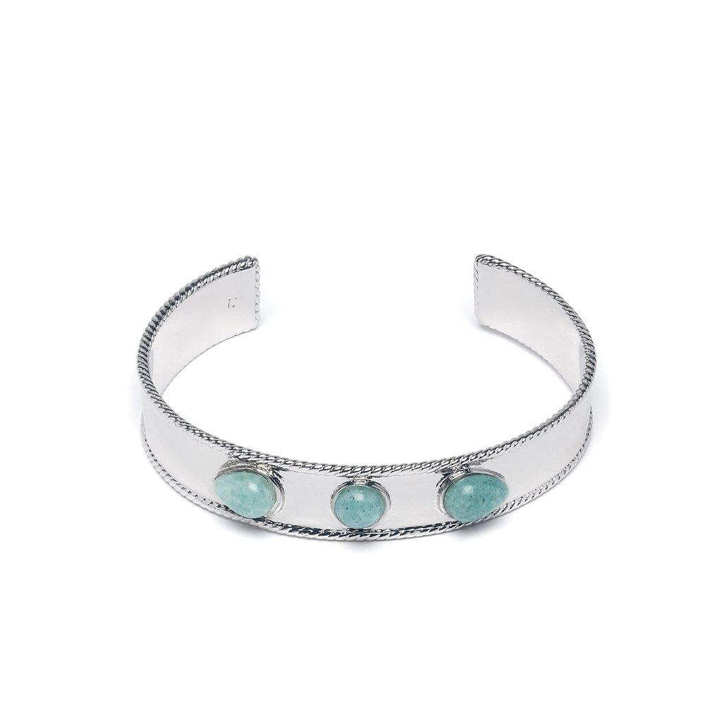 Sylvia Silver Bangle - Emma & Chloe