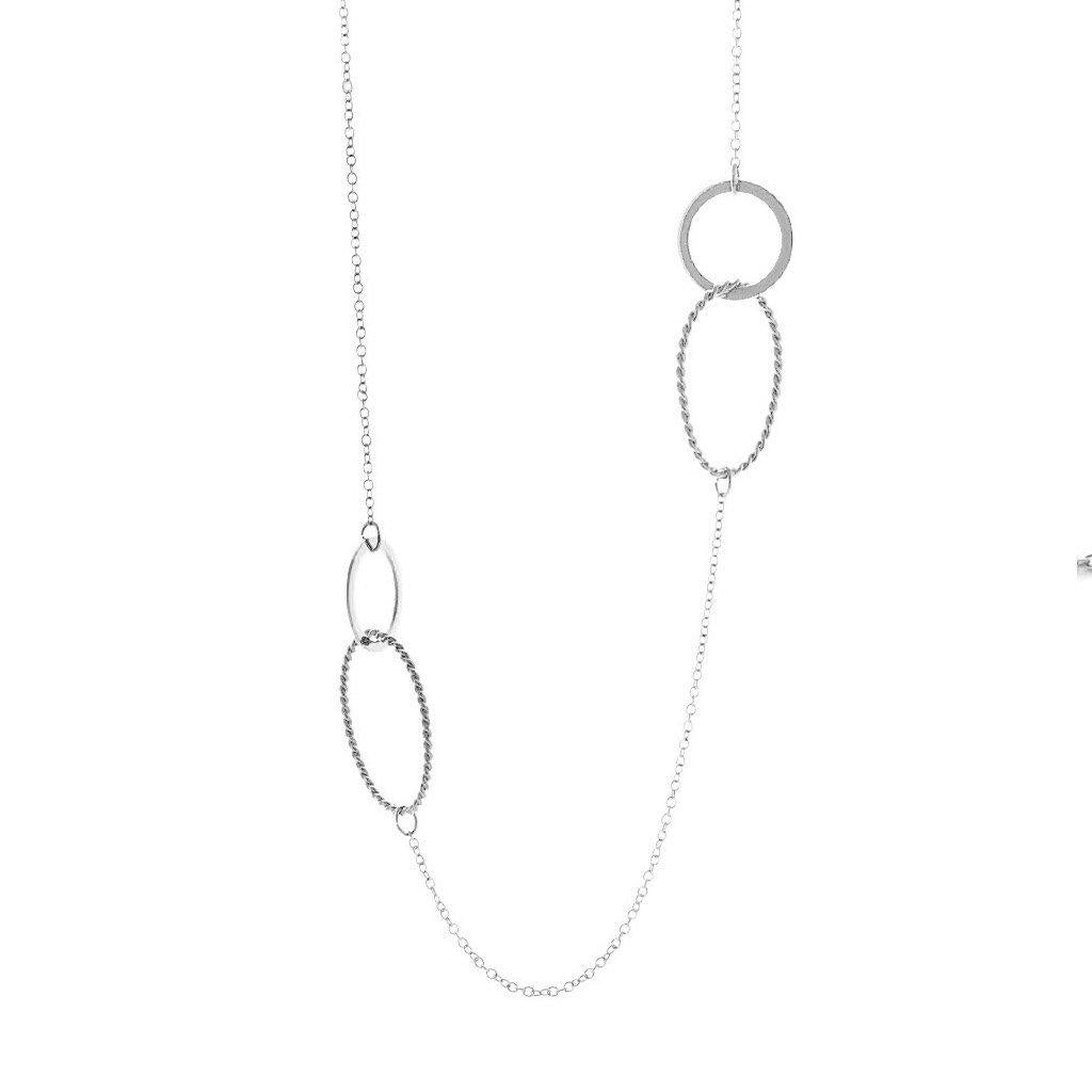 Apolline Long Silver Necklace - Emma & Chloe