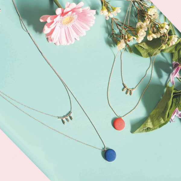 The Button Necklace - March 2016 Box - Emma & Chloe