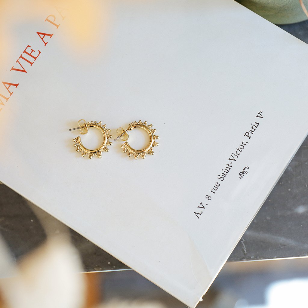 Heloise earrings gold - Emma & Chloe