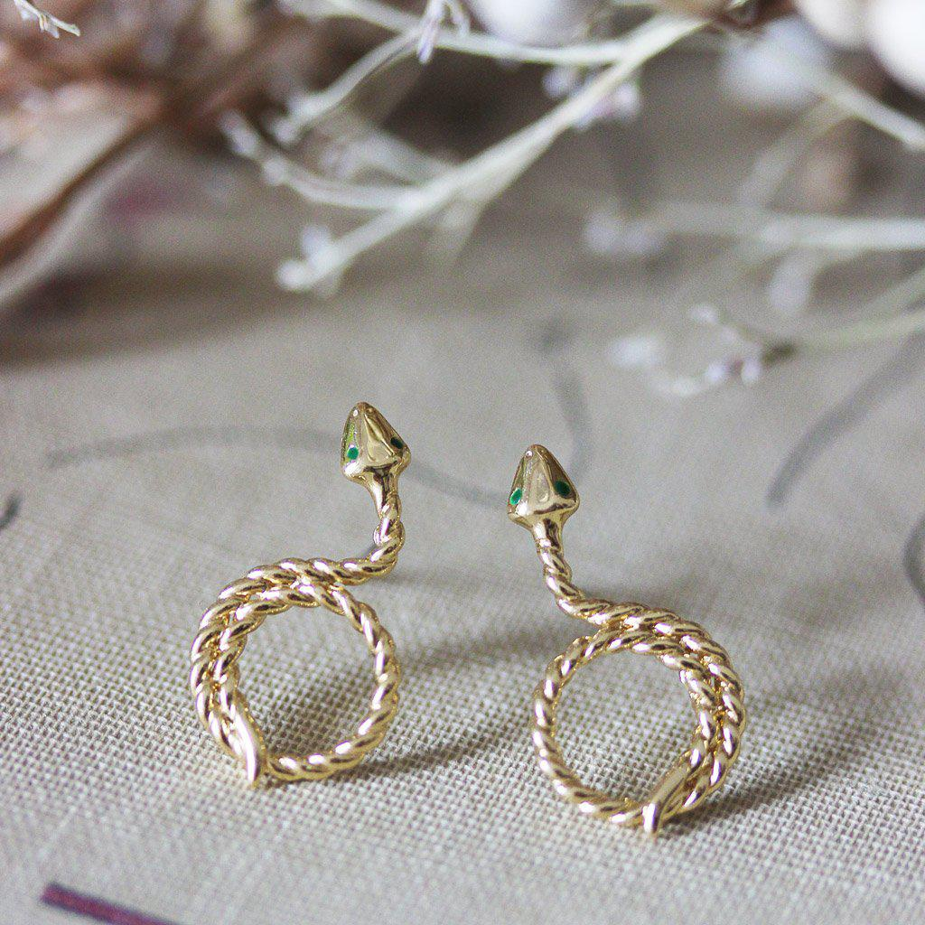 Serena Earrings Gold - Emma & Chloe