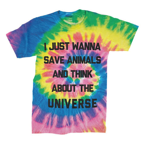 Save Animals - Tie-Dye Shirt