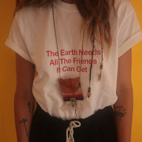Earth Friends - Calm White T-Shirt