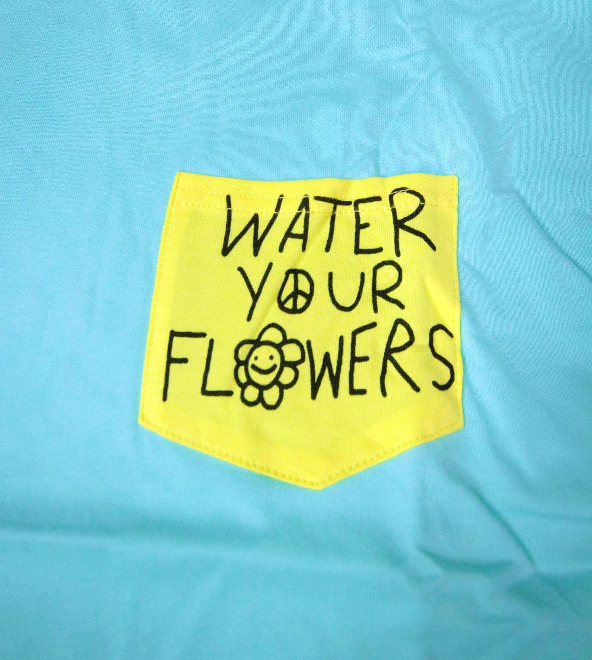 Water Your Flowers - Pastel Pocket T-shirt