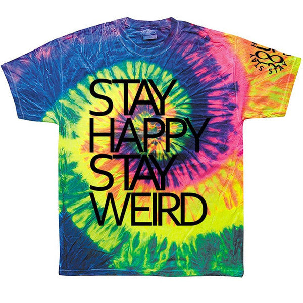 Stay Happy Stay Weird - Neon Rainbow Shirt