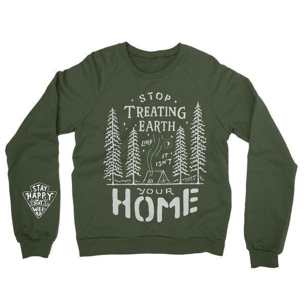 Camp Earth - Earth Green Crew Sweatshirt
