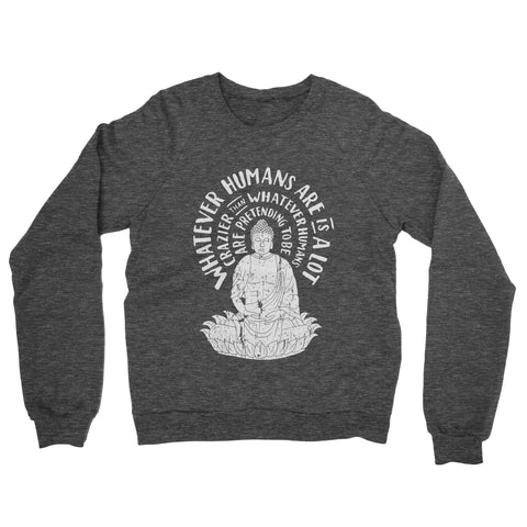 Humans Pretending - Heathered Black Crew Sweatshirt