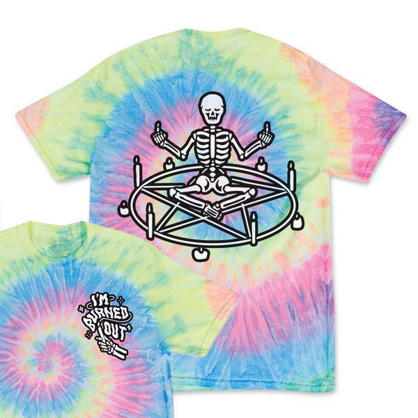 I'm Burned Out - Bone Glow Tie-Dye Shirt