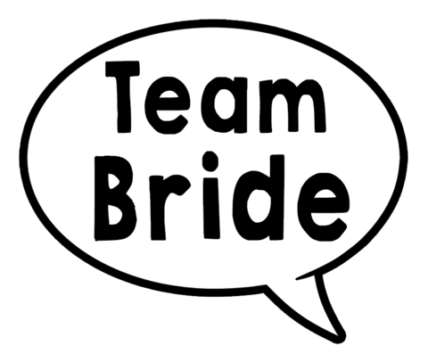 Team Bride/My Boo Speech Bubble