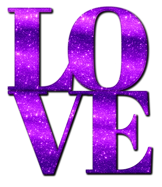 Oversized LOVE in Purple