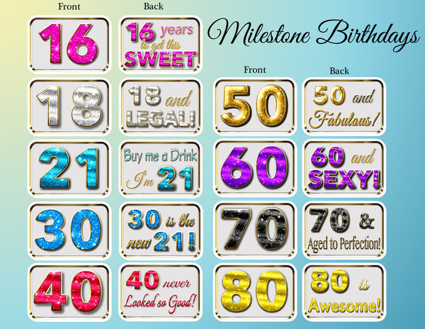 Milestone Birthday Bundle