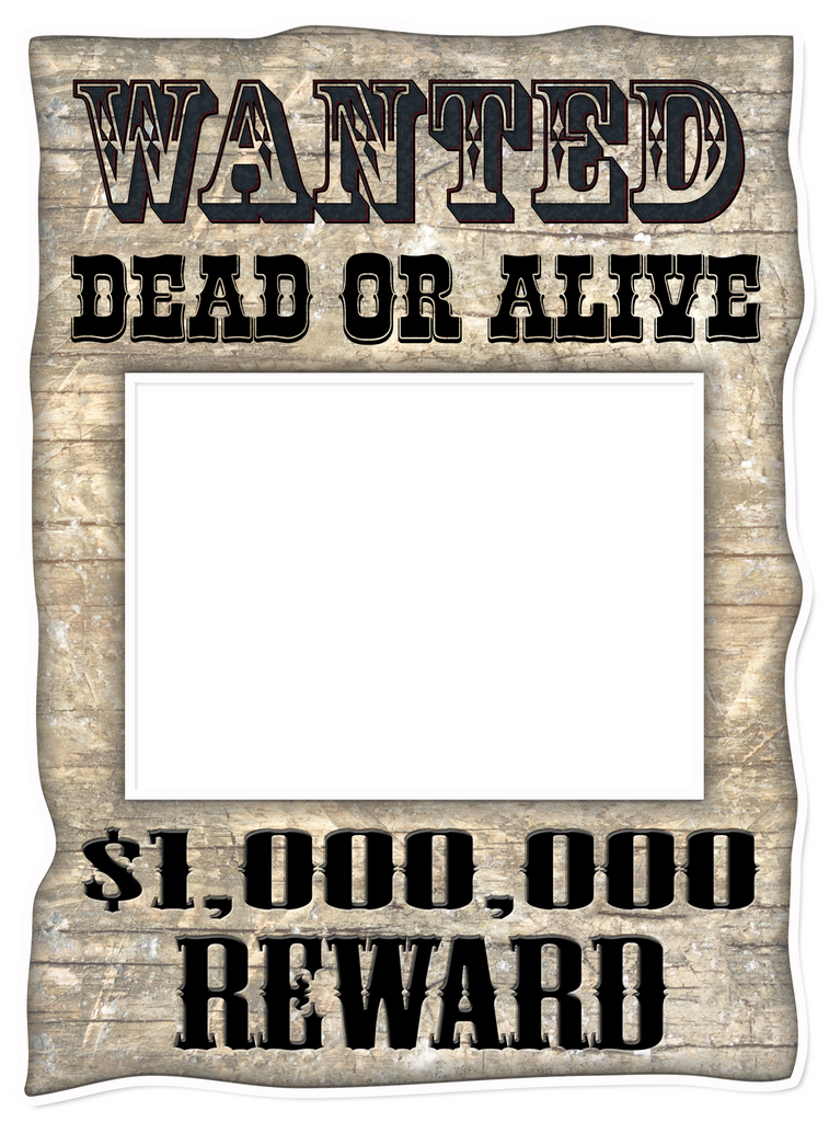Vintage Wanted/Kissing Booth Frame – POP Studios Props