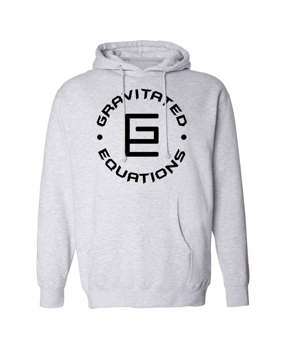 Circle Hoodie (Gray/Black) - Gravitated Equations ( GRAV )