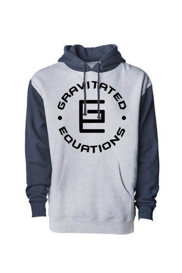 Circle Hoodie (Gray/Blue/Black) - Gravitated Equations ( GRAV )