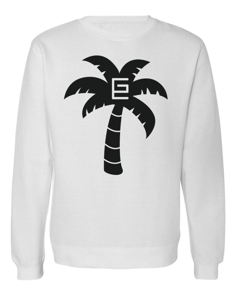 Palm Tree Crewneck (White/Black)