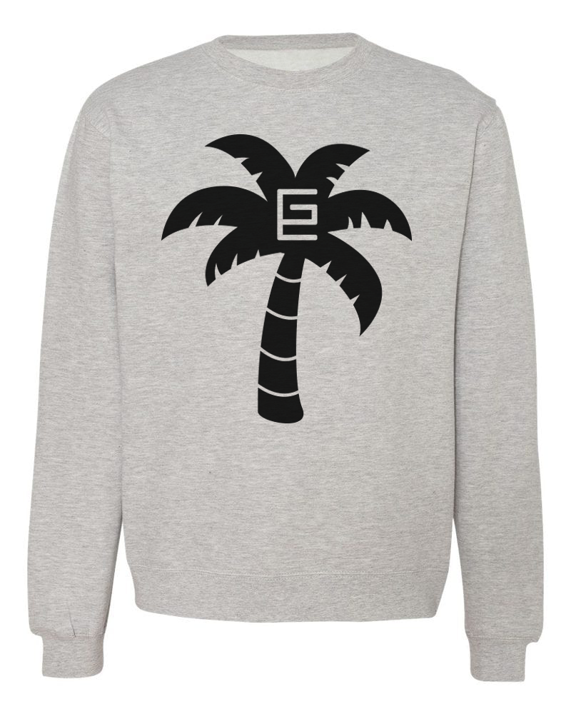 Palm Tree Crewneck (Gray/Black)