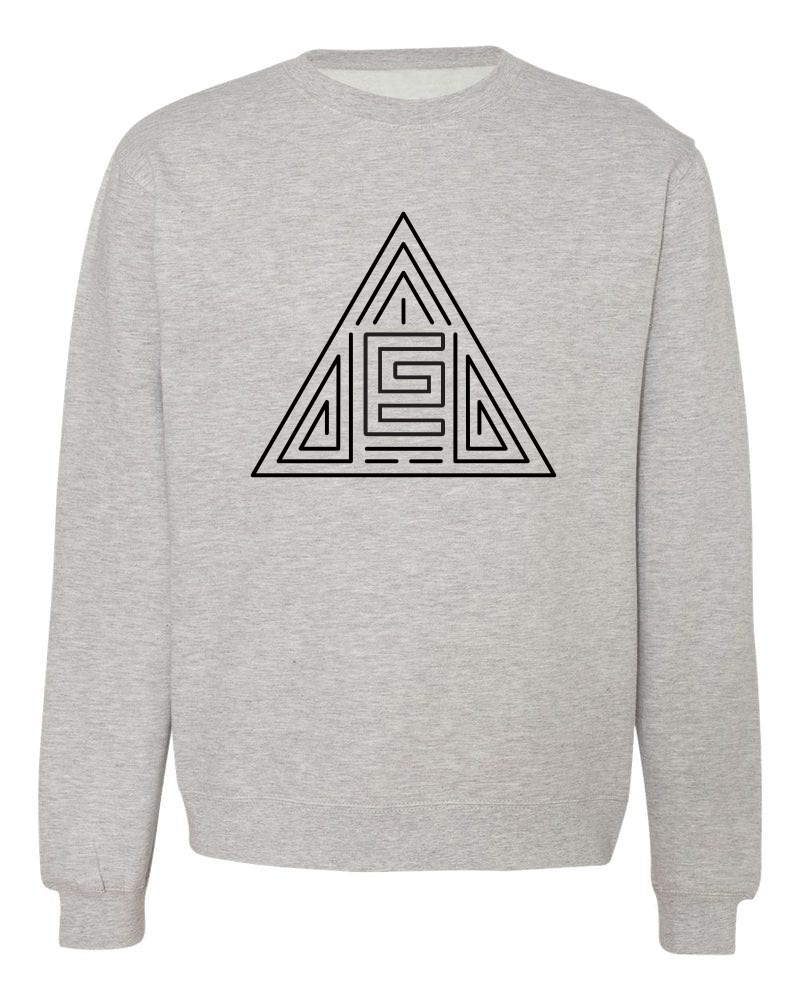 Triangle Maze Crewneck (Gray/Black)