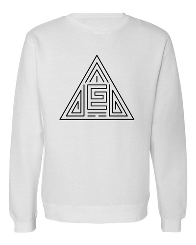 Triangle Maze Crewneck (White/Black)