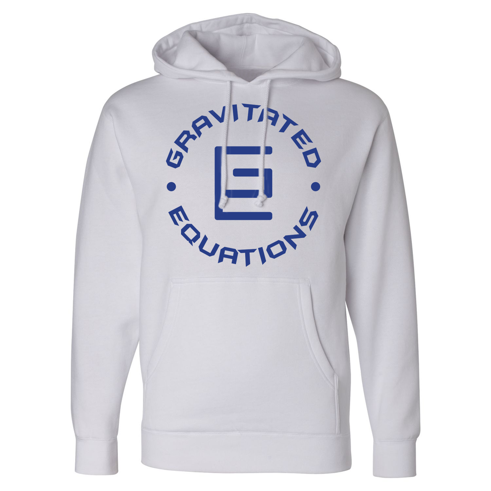Circle Hoodie (White/Blue) - Gravitated Equations ( GRAV )