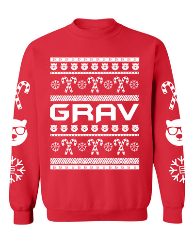 Grav Frosty Holiday Christmas Sweater - Gravitated Equations Clothing & Apparel