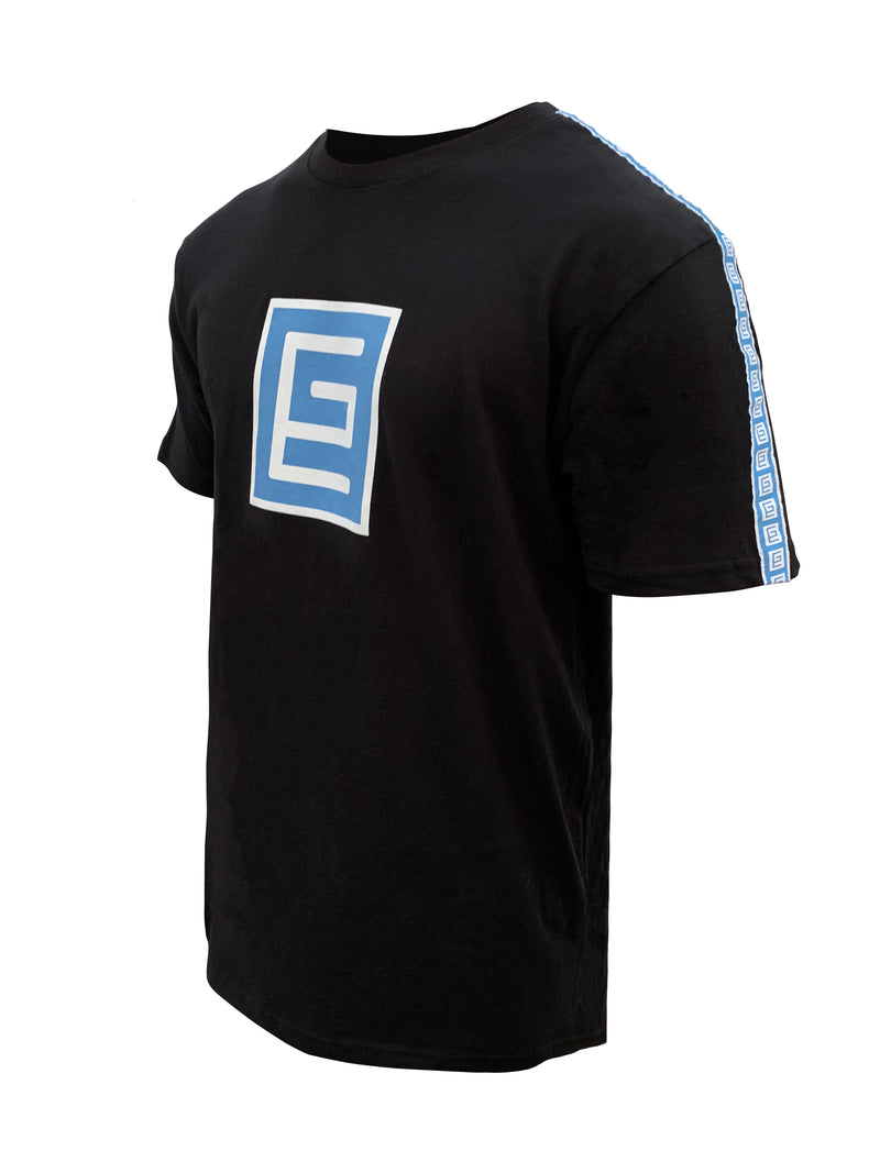Insignia Ribbon Tee (Black/Blue)