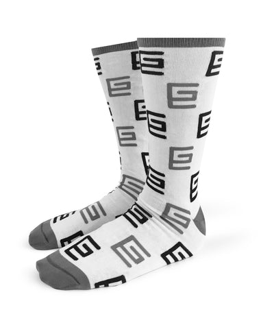 Grav Peppered Pattern Mid-Calf Sock