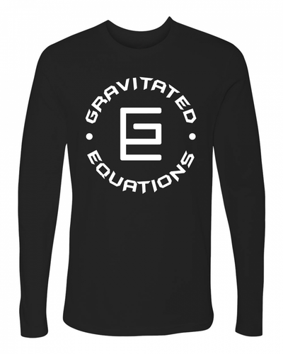 Circle Long Sleeve (Black/White) - Gravitated Equations ( GRAV )