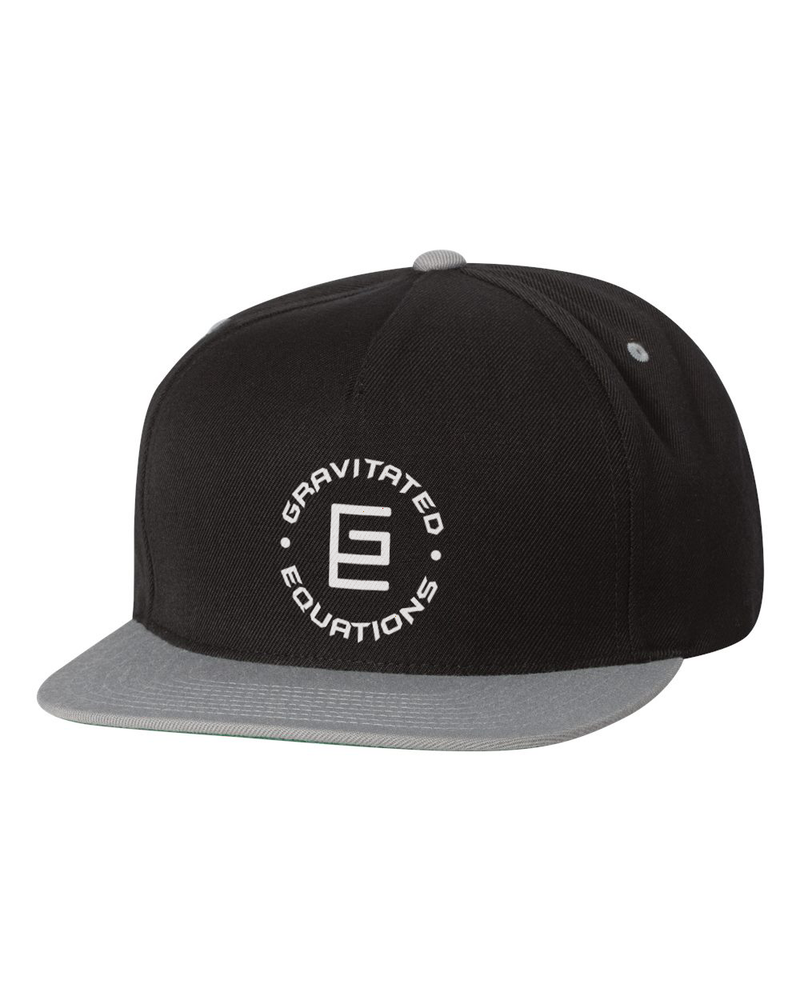 Circle Snapback (Black/Silver) - Gravitated Equations ( GRAV )