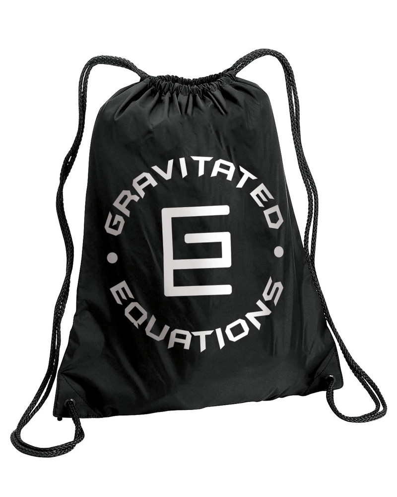 Circle Drawstring Bag (Black) - Gravitated Equations ( GRAV )