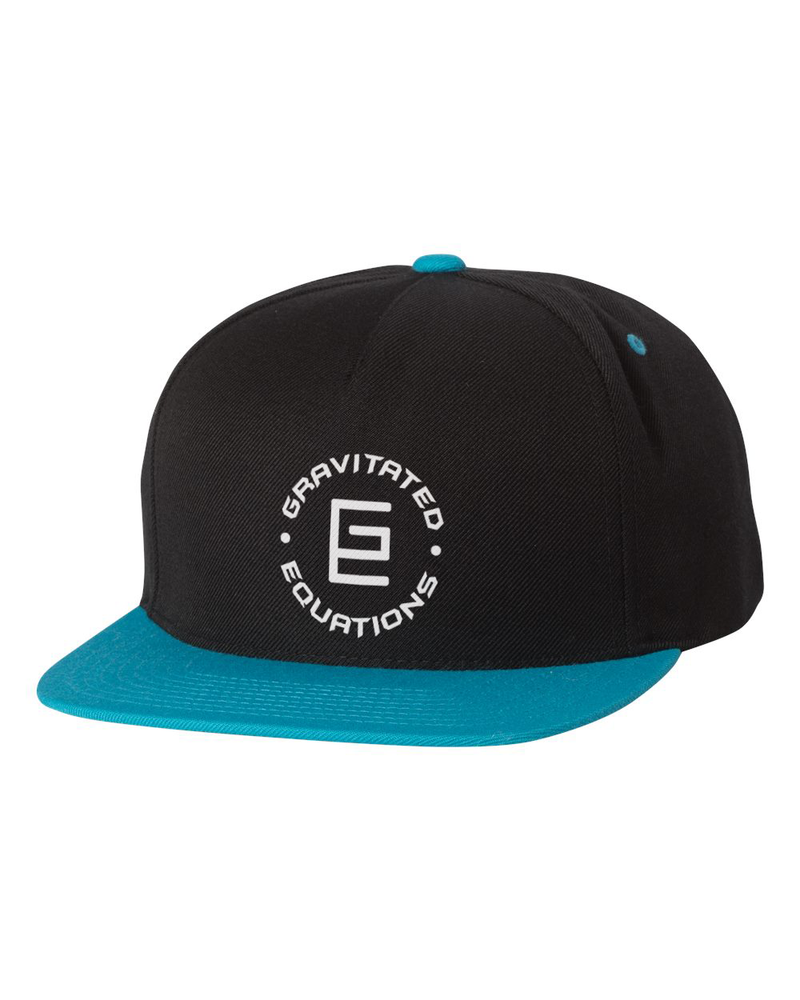 Circle Snapback (Black/Teal) - Gravitated Equations ( GRAV )