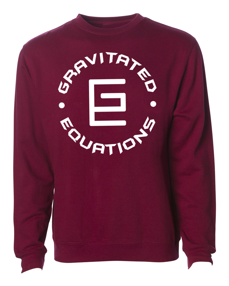 Circle Crewneck (Maroon/White) - ( GRAV )