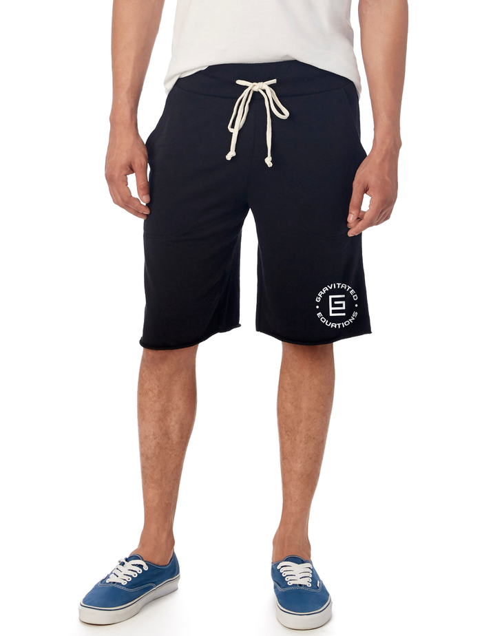 Circle French Terry Shorts (Black) - Gravitated Equations ( GRAV )