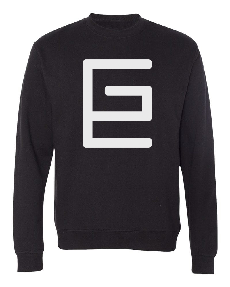 Classic Crewneck (Black/White) - Gravitated Equations