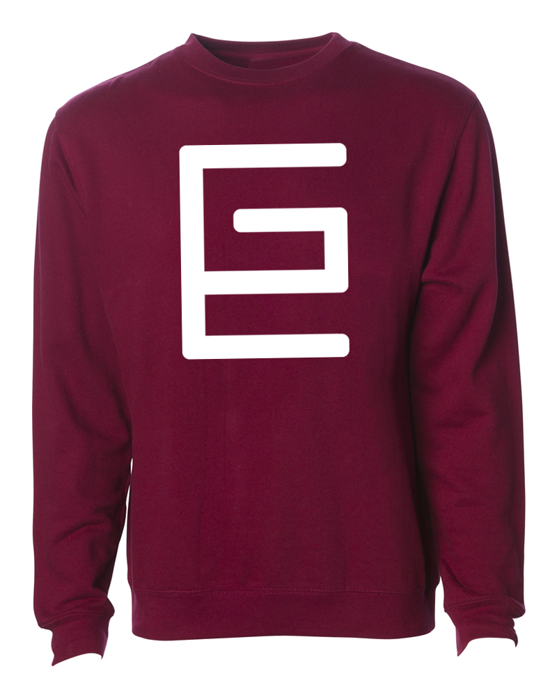 Classic Crewneck (Maroon/White) - Gravitated Equations