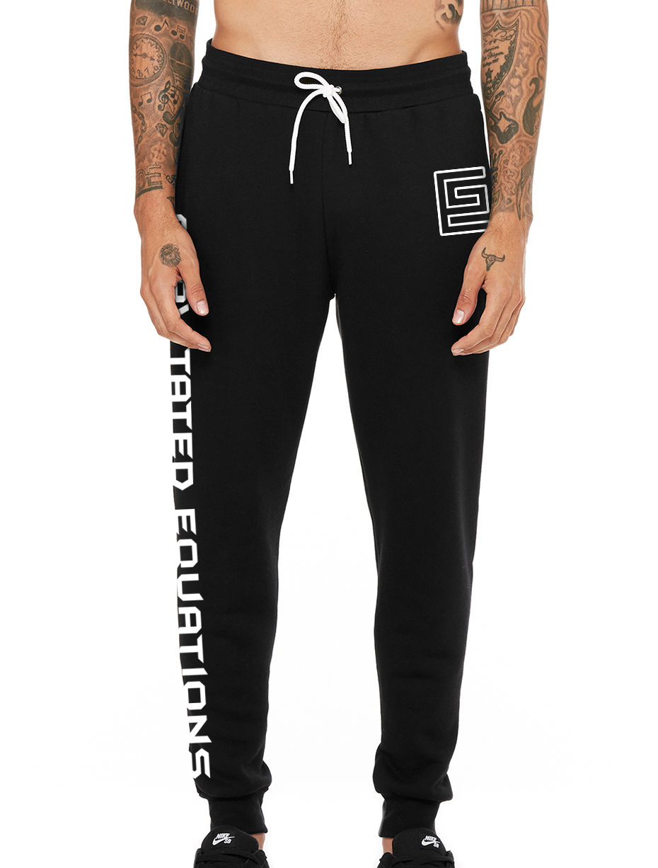 Hollow Jogger Sweats (Black/White)