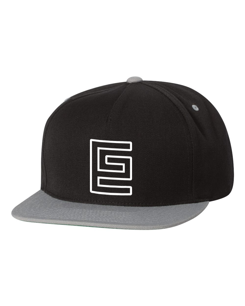 Hollow Snapback (Black/Silver)