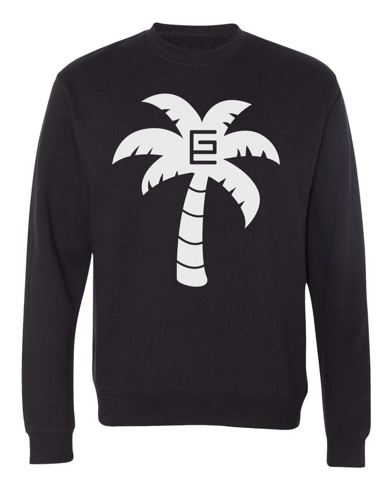 Palm Tree Crewneck (Black/White)