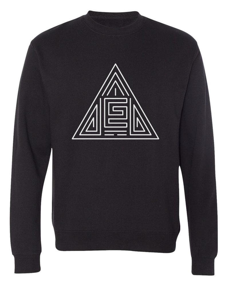Triangle Maze Crewneck (Black/White)