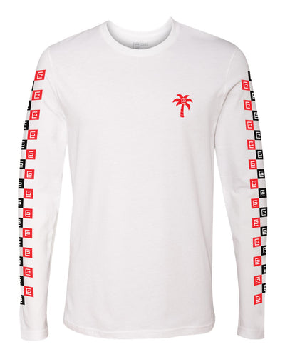 Checkerboard Long Sleeve Tee - Gravitated Equations Clothing & Apparel
