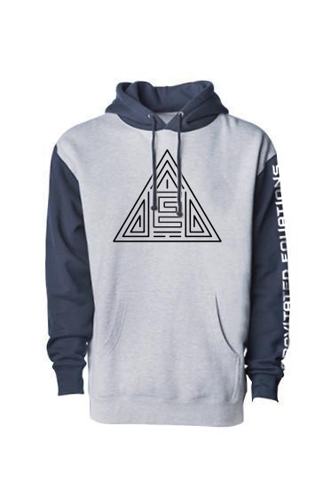 Triangle Maze Hoodie (Gray/Blue/Black)